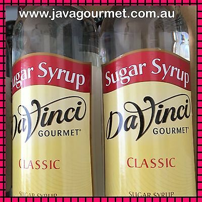 Two Sugar Syrup Davinci Gourmet 750ml Bottles Cafe Gift Tea Flavouring Bakery
