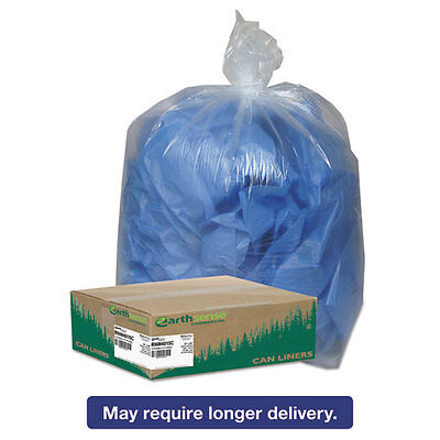 Earthsense Commercial Clear Recycled Can Liners, 31-33gal, 1.25mil, Clear,...