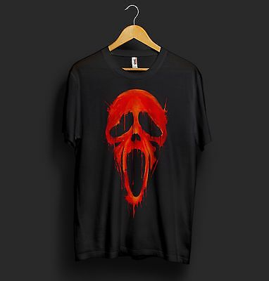 Scream Mask Halloween T Shirt Scary Movie Horror Face Funny Ghostface Ghost Dead