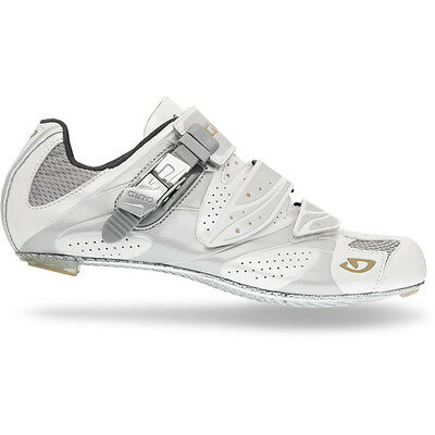 Giro Espada Women's Road Cycling Shoes SPD-SL & Look - White / Silver