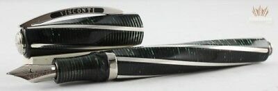 Visconti Divina Metropolitan Green Celluloid Fountain Pen Superb And Magnificent