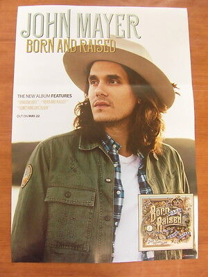 JOHN MAYER - Born And Raised (2Sided)  [OFFICIAL] POSTER NEW
