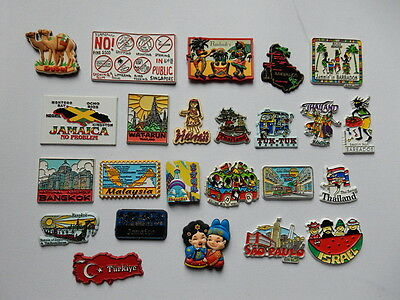 One Selected Rubber Souvenir Fridge Magnet from Around the World