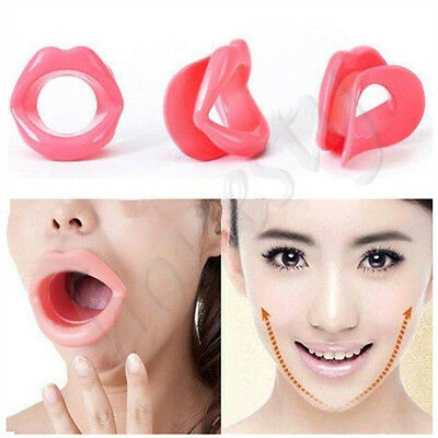Silicone Anti-Wrinkle Face Slimmer Rubber Exerciser Massage Mouth Piece Muscle