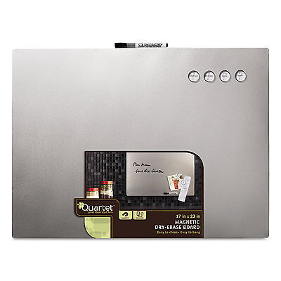Quartet Magnetic Dry Erase Board with Stainless Steel Finish 17 x 23 Frameless