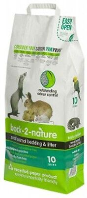Back 2 Nature Animal Bedding Litter for Rabbits/Birds/Reptiles/Small Pets 10L