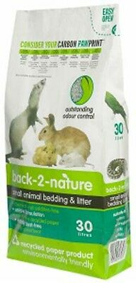Back 2 Nature Animal Bedding Litter for Rabbits/Birds/Reptiles/Small Pets 30L