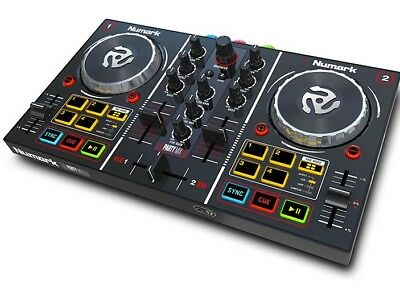 Numark Party Mix - 2 Channel DJ Controller with Built-In Disco Lights +Soundcard