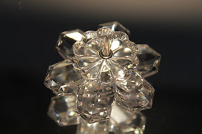 Swarovski Crystal #7600 101 Flower-Shaped Candle Holder - Mib