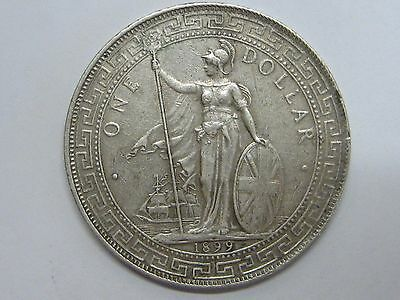 "1899 Victoria One Trade Dollar Crown ""b"" Silver"