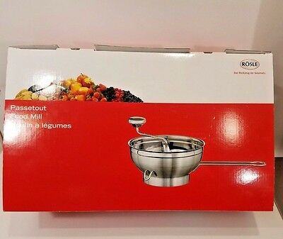 Rosle Williams Sonoma Stainless Steel Food Mill 2 Discs 16251 NIB