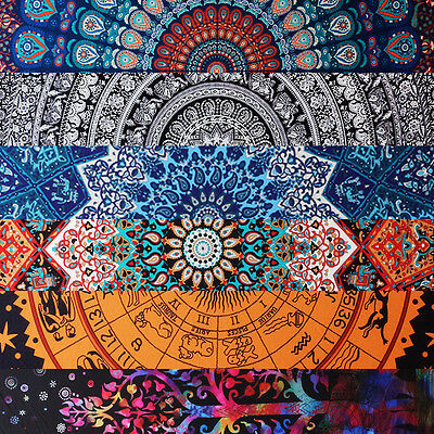 Indian Mandala Tapestry Large Wall Hanging Hippie Bedspread Curtain Table Cloth