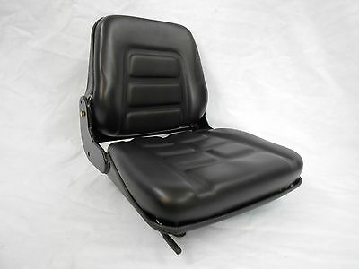 Black Fold Down Seat Forklift Clark, Cat, Hyster,yale,toyota, Crown, Nissan  #np