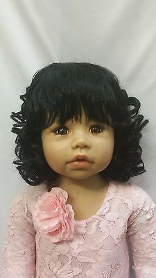 "NWT Monique Angelica Black Doll Wig 17-18"" fits Masterpiece Doll(WIG ONLY)"