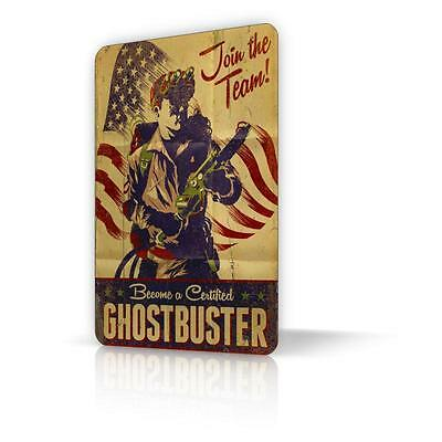 TIN SIGN Become a Certified GHOSTBUSTERS Movie Poster Memorabilia 4 Decor Home