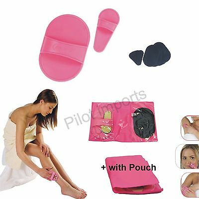 PILOT Exfoliating Hair Removal Pad Set for Smooth Skin on Legs Arm Face Top Lip
