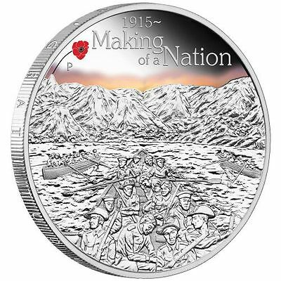 The Anzac Spirit 2015 Silver Coin- Making Of A Nation