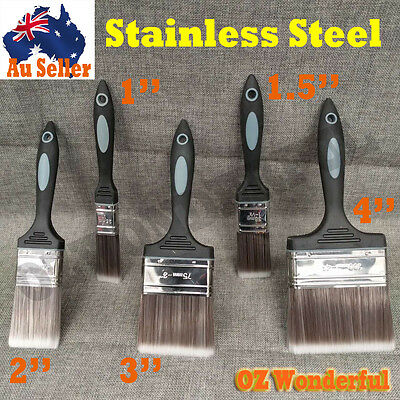 1/1.5/2/3/4'' inch PAINT BRUSHES STRAIGHT PAINTING HOUSE Stainless