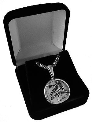 Percy Jackson Necklace, TARAS, Pendant and Chain, Son of Poseidon, 15-S