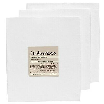 Little Bamboo Bedtime Rayon & Cotton Moisture Wicking Fitted Sheet - From Birth