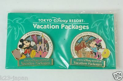Tokyo Disney Resort Pin Stand Vacation package Mickey Minnie TDR JAPAN