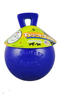 "Horsemen's Pride Tug-N-Toss Jolly Ball 4.5"" Blue Horse Toy Pony Play Interactive"