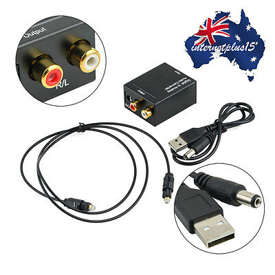 3.5MM Digital Optical Coax Coaxial Toslink to Analog Audio Converter Adapter P5#