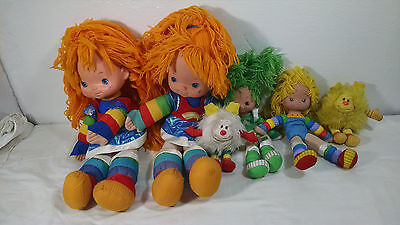 Vintage Lot Of 6 Rainbowbrite Rainbow Brite Figures