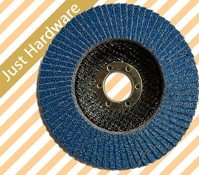 FLAP DISC DISCS WHEEL Zirconia ANGLE GRINDER 100mm 125mm grip 40 60 80 grit
