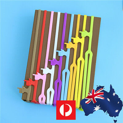 4Pcs Silicone Bookmarks for Book Mark Novelty Funny Gift Note Pad Memo Stationer