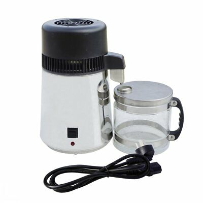 4L Water Distiller Stainless Steel Pure Water Purifier Filter  Glass Collection
