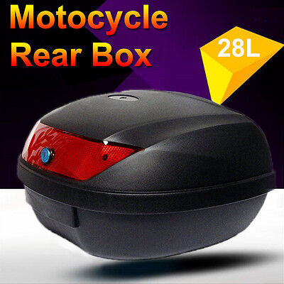 28L Motorcycle Universal Scooter Top Tail Box Rear Storage Two Sets of Keys New