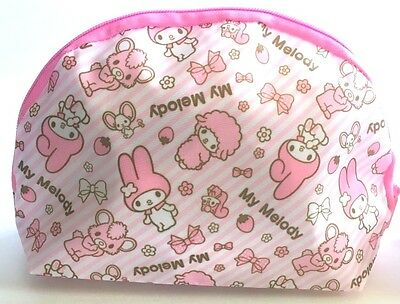 SANRIO My Melody KWAII Flat Round shape cute Fancy Pouch Black F/S AIRMAIL JAPAN