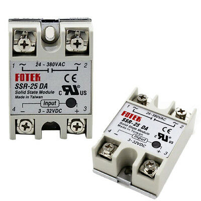 SSR-25 DA 25A DC/AC 24V-380V Solid State Relay for PID Temperature Controller