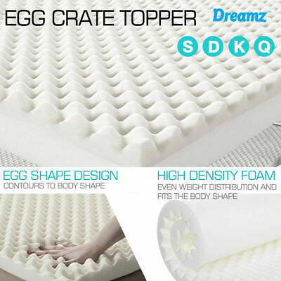 Underlay Foam Egg Crate Mattress Topper QUEEN KING Size Deluxe Protector 5CM