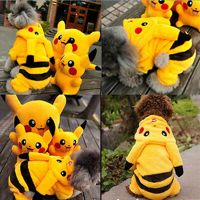 Hot Pet Puppy Dog Coat Apparel Pikachu Cosplay Clothes Hoodie Costumes Clothing