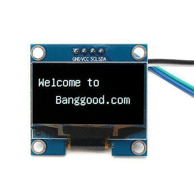 1.3 Inch 4Pin White OLED LCD Display 128x64 IIC I2C Interface Module For Arduino
