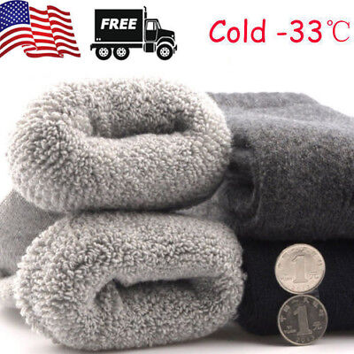 4Pairs US Mens Warm & Soft Comfort Wool Cashmere Large Winter Thick Dress Socks