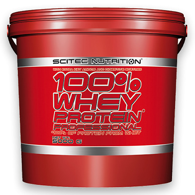 (13,18€/kg) Scitec Nutrition 100% Whey Protein Professional 5000g 5kg Eiweiss