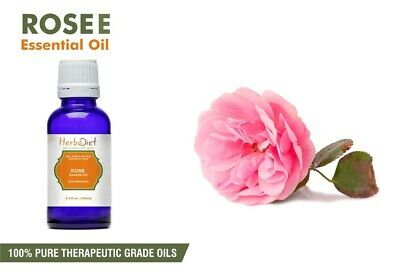 Rose Essential Oil 100% Pure Natural PREMIUM Undilluted Therapeutic Grade Oils