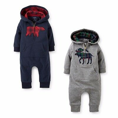 Carters Newborn 6 12 18 Months Jumpsuit Playsuits Romper Baby Boy Outfit Clothes