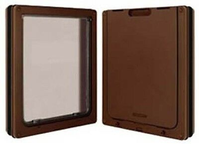 Dog Mate Pet Dog Door Flap for Dogs & Cats Large Brown 216