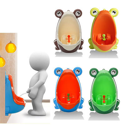 Frog Plastic Baby Children Boys Training Kids Pee Potty Toilet Urinal Bathroom