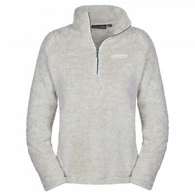 Craghoppers Ladies Womens Catriona Fluffy Half Zip Fleece Jumper in Calico White