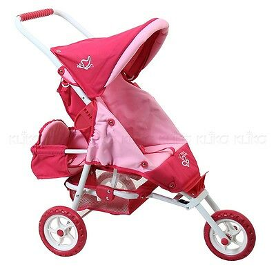 Valco Baby Mini Doll Marathon with Toddler Seat - Butterfly Pink & Purple