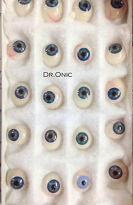 Cosmetic Artificial Prosthetic Blue Eyes Set of 25