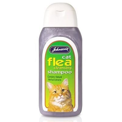 Johnsons Cat Flea Cleansing Sensitive Shampoo 125ml, 200ml