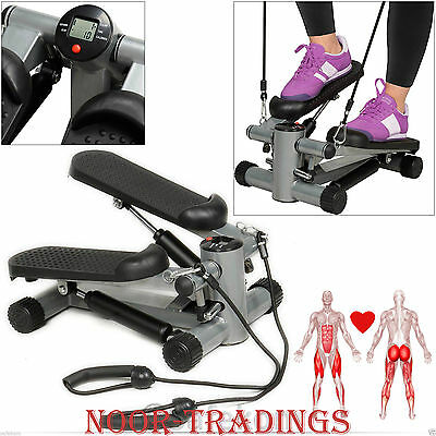 Mini Stepper Workout Machine Legs Arms Thigh Cords Fitness Exercise Gym Aerobic