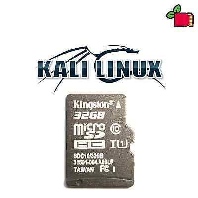 Kali Linux Preinstalled 32GB CLASS10 SD Card Preloaded for Raspberry Pi 2/3