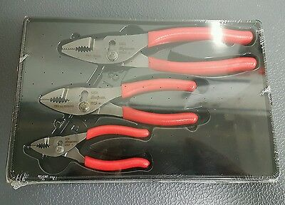 Snap On Slip Joint Pliers Set NEW